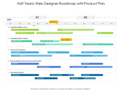 Half Yearly Web Designer Roadmap With Product Plan Introduction