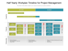 Half Yearly Workplan Timeline For Project Management Portrait