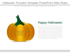 Halloween Pumpkin Template Powerpoint Slide Rules