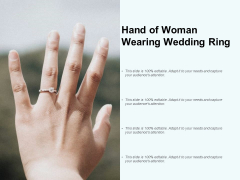 Hand Of Woman Wearing Wedding Ring Ppt PowerPoint Presentation Slides Example File