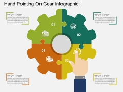 Hand Pointing On Gear Infographic Powerpoint Template
