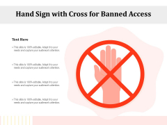 Hand Sign With Cross For Banned Access Ppt PowerPoint Presentation Inspiration Format PDF