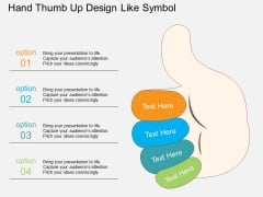 Hand Thumb Up Design Like Symbol Powerpoint Template