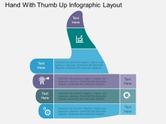Hand With Thumb Up Infographic Layout Powerpoint Templates