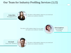 Handling Industry Analysis Our Team For Industry Profiling Services Managing Inspiration PDF