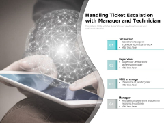 Handling Ticket Escalation With Manager And Technician Ppt PowerPoint Presentation Icon Professional PDF