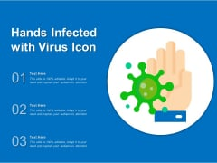 Hands Infected With Virus Icon Ppt PowerPoint Presentation File Background PDF