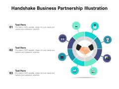 Handshake Business Partnership Illustration Ppt PowerPoint Presentation Model Background PDF