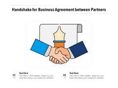 Handshake For Business Agreement Between Partners Ppt PowerPoint Presentation Gallery Sample PDF