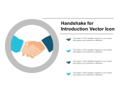 Handshake For Introduction Vector Icon Ppt PowerPoint Presentation Styles Icons