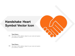 Handshake Heart Symbol Vector Icon Ppt PowerPoint Presentation Inspiration Example Introduction PDF