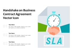 Handshake On Business Contract Agreement Vector Icon Ppt PowerPoint Presentation Pictures Display