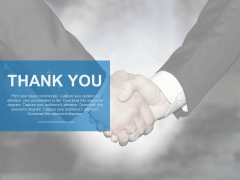 Handshake Thank You Slide For Business Powerpoint Slides