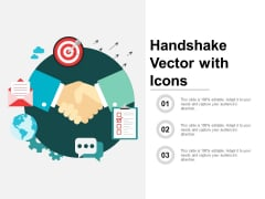 Handshake Vector With Icons Ppt PowerPoint Presentation Inspiration Gallery
