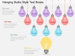 Hanging Bulbs Style Text Boxes Powerpoint Template
