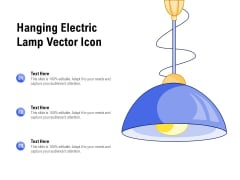 Hanging Electric Lamp Vector Icon Ppt PowerPoint Presentation Icon Model
