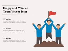 Happy And Winner Team Vector Icon Ppt PowerPoint Presentation Slides Background PDF