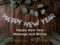 Happy New Year Message And Wishes Ppt PowerPoint Presentation Gallery Brochure PDF