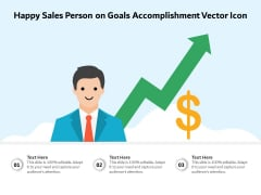 Happy Sales Person On Goals Accomplishment Vector Icon Ppt PowerPoint Presentation File Clipart PDF
