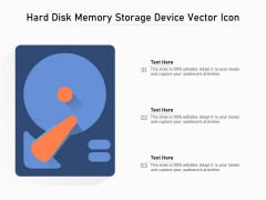 Hard Disk Memory Storage Device Vector Icon Ppt PowerPoint Presentation File Show PDF