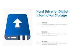 Hard Drive For Digital Information Storage Ppt PowerPoint Presentation Outline Shapes