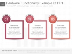 Hardware Functionality Example Of Ppt