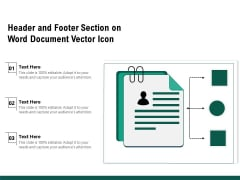 Header And Footer Section On Word Document Vector Icon Ppt PowerPoint Presentation Summary Guide PDF