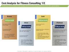 Health And Fitness Consultant Cost Analysis For Fitness Consulting Gold Summary PDF