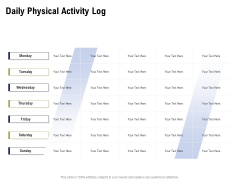 Health And Fitness Consultant Daily Physical Activity Log Introduction PDF