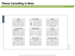 Health And Fitness Consultant Fitness Consulting In News Professional PDF
