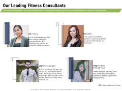 Health And Fitness Consultant Our Leading Fitness Consultants Graphics PDF