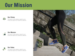 Health And Fitness Consultant Our Mission Slides PDF