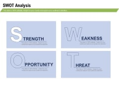 Health And Fitness Consultant SWOT Analysis Elements PDF