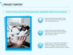 Health Care Project Context Ppt Infographics Show PDF