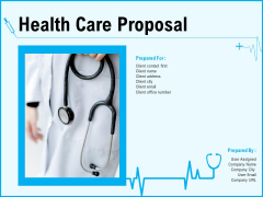 Health Care Proposal Ppt PowerPoint Presentation Complete Deck With Slides