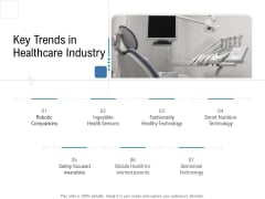 Health Centre Management Business Plan Key Trends In Healthcare Industry Introduction PDF