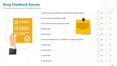 Health Clinic Marketing Drug Feedback Survey Ppt Summary Aids PDF