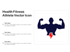 Health Fitness Athlete Vector Icon Ppt PowerPoint Presentation Infographic Template Outfit PDF