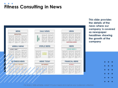 Health Fitness Consulting In News Ppt Portfolio Elements PDF