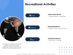 Health Recreational Activities Ppt Show Layouts PDF