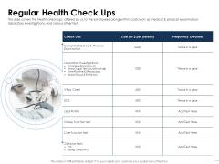 Health Regular Health Check Ups Ppt Infographic Template Deck PDF