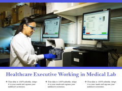 Healthcare Executive Working In Medical Lab Ppt PowerPoint Presentation Model Example Introduction PDF