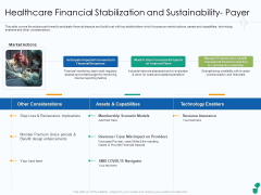 Healthcare Financial Stabilization And Sustainability Payer Ppt Layouts Slide Portrait PDF