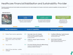 Healthcare Financial Stabilization And Sustainability Provider Ppt Professional Slide Download PDF