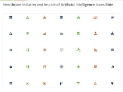Healthcare Industry And Impact Of Artificial Intelligence Icons Slide Ppt Model Layouts PDF