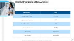 Healthcare Management Health Organisation Data Analysis Ppt Outline Deck PDF