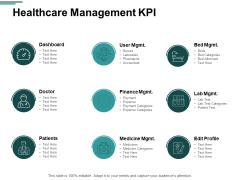 Healthcare Management KPI Ppt PowerPoint Presentation Model Graphic Tips