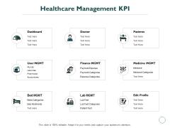 Healthcare Management KPI Ppt PowerPoint Presentation Show Slideshow
