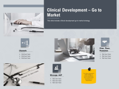 Healthcare Merchandising Clinical Development Go To Market Sample PDF