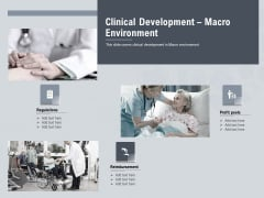 Healthcare Merchandising Clinical Development Macro Environment Sample PDF